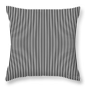 Vertical Stripes In Black And White Throw Pillow