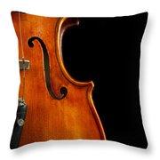 Vertical Violin Art Throw Pillow