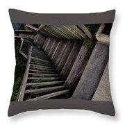 Vertigo - Stairs To The Unknown Throw Pillow