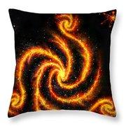 Very Big Red Gold Spiral Galaxy Throw Pillow