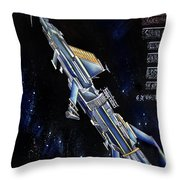 Very Big Space Shuttle Of Alien Civilization Throw Pillow