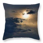 Very Hazy Sunset Throw Pillow