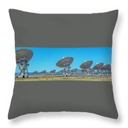 Very Large Array Side View Throw Pillow