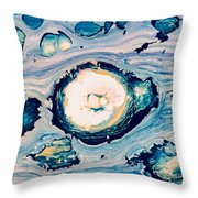 Occator On Ceres In My Eyes Throw Pillow