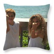 Very Naughty Angels Throw Pillow