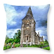 Very Old Church Throw Pillow