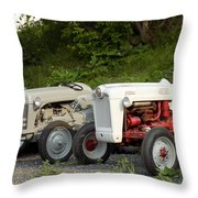 Very Old Ford Tractors Throw Pillow