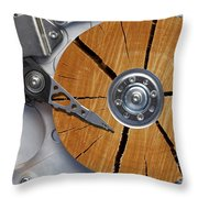 Very Old Hard Disc Throw Pillow