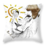 Very Sad Lion, Cry For Africa Throw Pillow