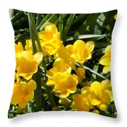 Very Sunny Yellow Flowers Throw Pillow