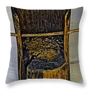 Very Very Ancient Chair For Kids. Throw Pillow