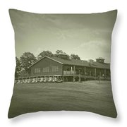 Vesper Hills Golf Club Tully New York Antique 01 Throw Pillow