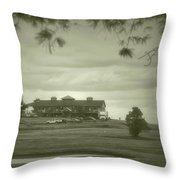 Vesper Hills Golf Club Tully New York Antique 02 Throw Pillow