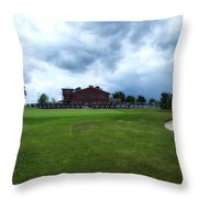 Vesper Hills Golf Club Tully New York Before The Storm Throw Pillow