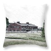 Vesper Hills Golf Club Tully New York Pa 01 Throw Pillow