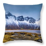 Vestrahorn Photographer Throw Pillow by Mihai Andritoiu