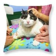 Vet Cannula Needle Injection Throw Pillow
