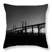 Veterans Memorial And Rainbow Bridges Throw Pillow