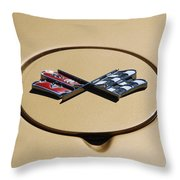 Vette Flags Throw Pillow