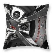 Vette Wheel Throw Pillow