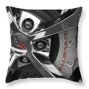 Vette Wheel Throw Pillow by Dennis Hedberg