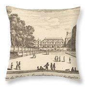 Veue Du Luxembourg Throw Pillow