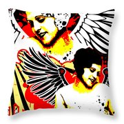Vexed Angel Throw Pillow