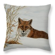 Vexed Vixen - Red Fox Throw Pillow