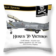 Vf-103 Jolly Rogers Throw Pillow