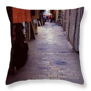 Via Dolorosa The Way Of Sorrow Throw Pillow