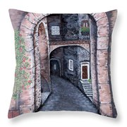 Via In Scanno Throw Pillow