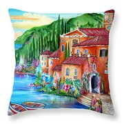 Via Positano By The Lake Throw Pillow