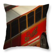 Via San Antonio Trolley Throw Pillow