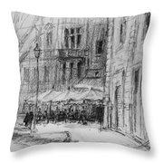 Via Veneto, Rome Throw Pillow
