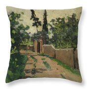 Vialetto Con Cipresso E Abete Throw Pillow
