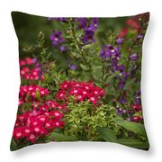 Vibrant Blooms Throw Pillow