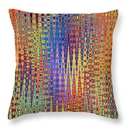 Vibrant Christmastree Forest Throw Pillow