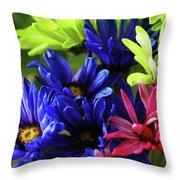 Vibrant Chrysanthemums Throw Pillow