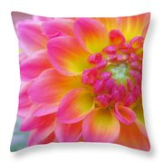 Vibrant Dahlia Throw Pillow