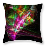 Vibrant Energy Swirls Throw Pillow