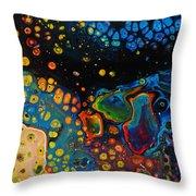 Vibrant Galaxy. Throw Pillow
