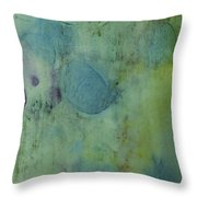 Vibrant Green Abstract Ink Design Throw Pillow
