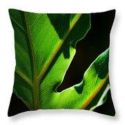 Vibrant Green Throw Pillow