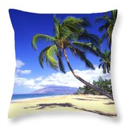 Vibrant Green Palms Throw Pillow