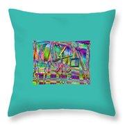 Vibrant Harmony Throw Pillow