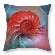 Vibrant Nautilus Pair - Horizontal Throw Pillow