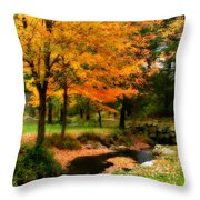 Vibrant October Throw Pillow