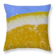 Vibrant Orange Throw Pillow