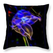 Vibrant Orchid Throw Pillow