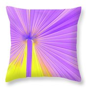 Vibrant Palm Frond Square Throw Pillow